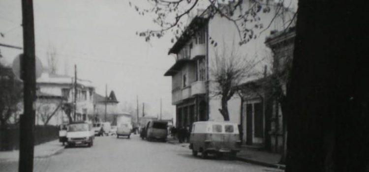 Pe strada Văleni în 1971.