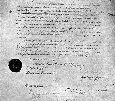 Un document cu valoare istorică.