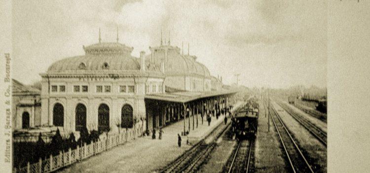 "Gara din ""Ploeșci"" – imagine de la inceput de sec. XX"