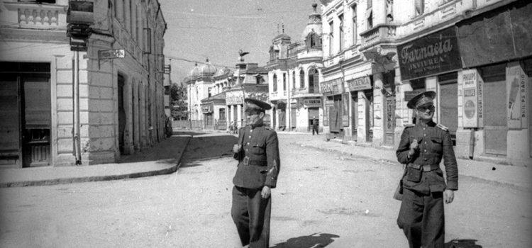 Strada Franceza dupa dupa efectele bombardamentelor.
