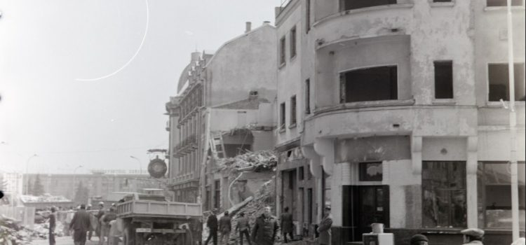 Demolari in zona centrului civic – foto 1979