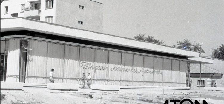 """Magazinul """"Alimentar-Autoservire"""" strada Muzicanți – foto 1965"""