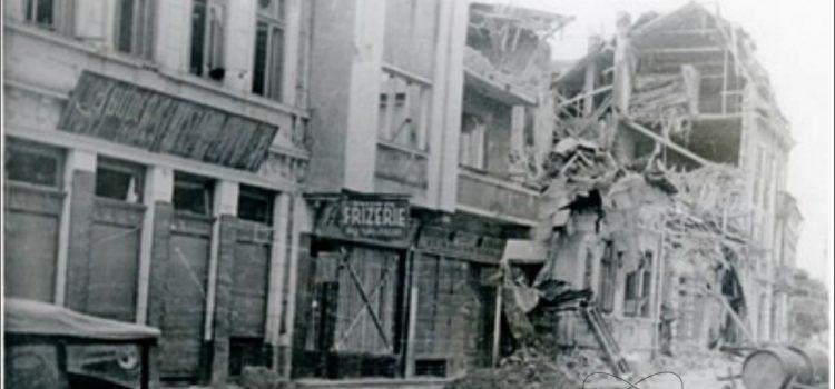 Case bombardate pe strada Ștefan cel Mare – foto 1944