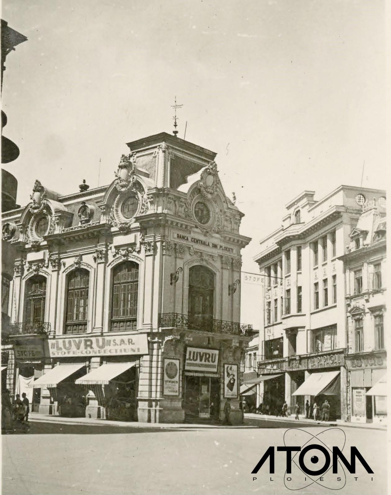 Piața Unirii cu Palatul Băncii Centrale – foto 1930
