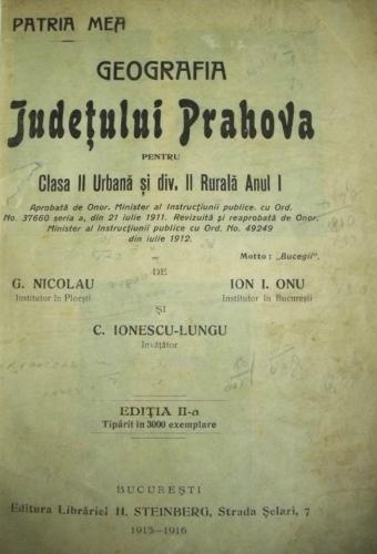 Geografia judetului Prahova – 1915