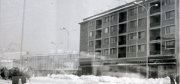 Peisaj de iarnă din Ploieştiul anilor '60