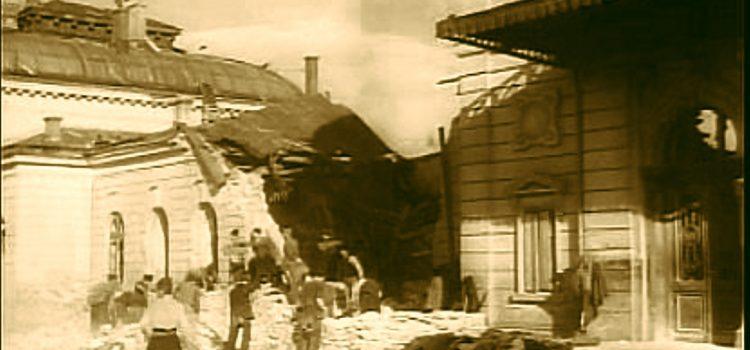 Gara de Sud după bombardamentul aliaților din 1944.
