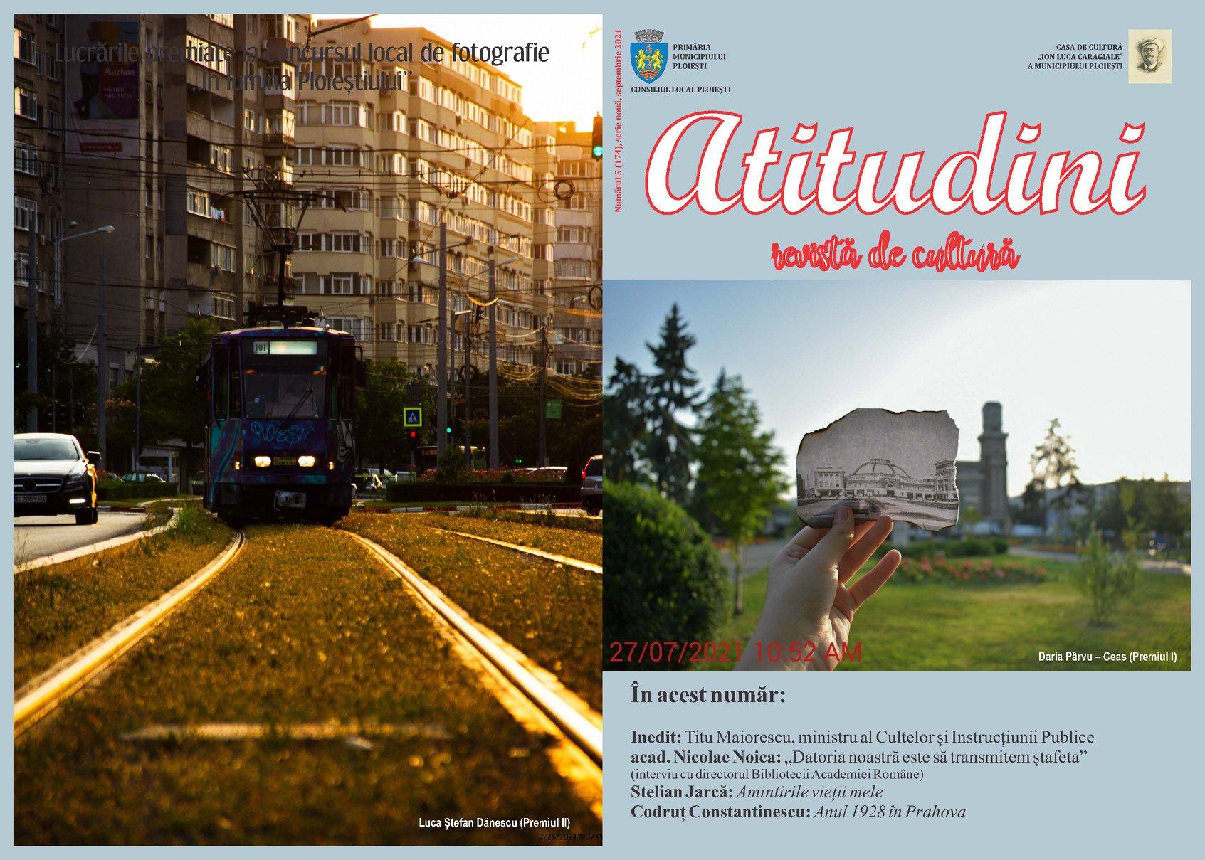 """Revista """"Atitudini"""" a Casei de Cultură """"I.L. Caragiale"""" din Ploiești"""
